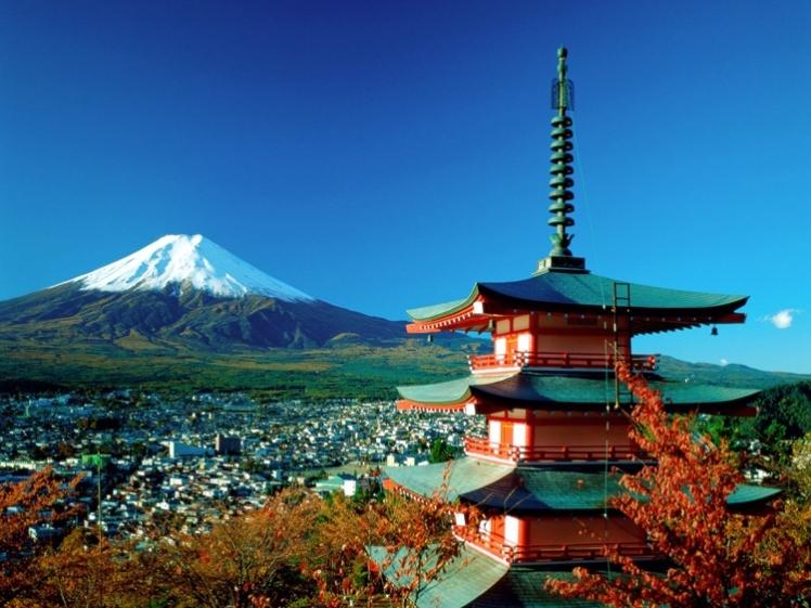 El Monte Fuji desde Kioto