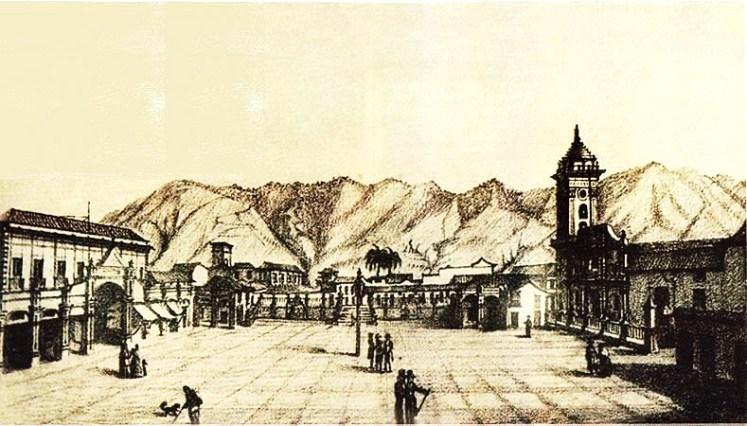 un-grabado-de-la-plaza-mayor-hacia-1840