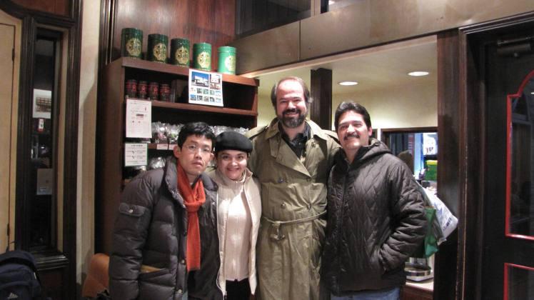Con Juan Villoro Tokio4